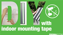 About Permastik 12mm x 20m White Indoor Mounting Tape Roll