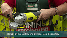 About Ryobi One+ 18V 115mm Cordless Angle Grinder - Skin Only