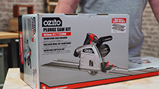 About Ozito 165mm 1200W Plunge Track Saw Kits