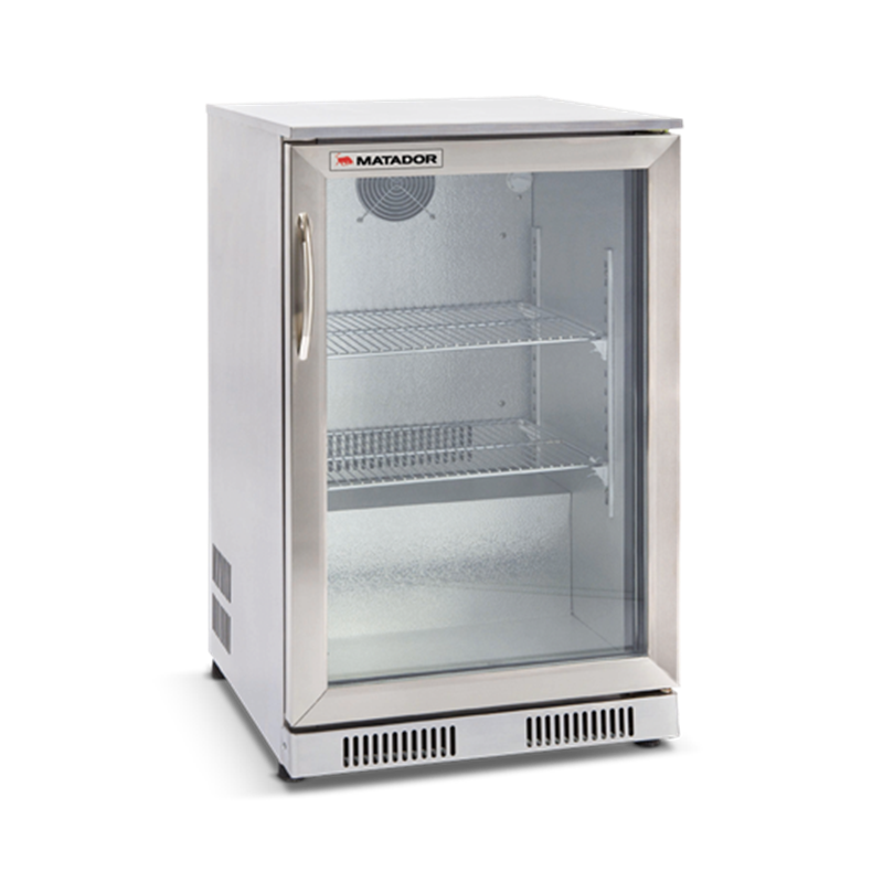 118L Stainless Steel Single Door Bar Fridge