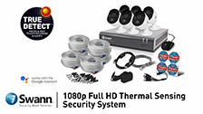About Swann 8 Channel Security System: 1080p Full HD With 1TB HDD And 4 x 1080p Thermal Sensing Cameras