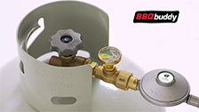 About BBQ Buddy Gas Safety Shut-Off Valve with Hose and Regulator