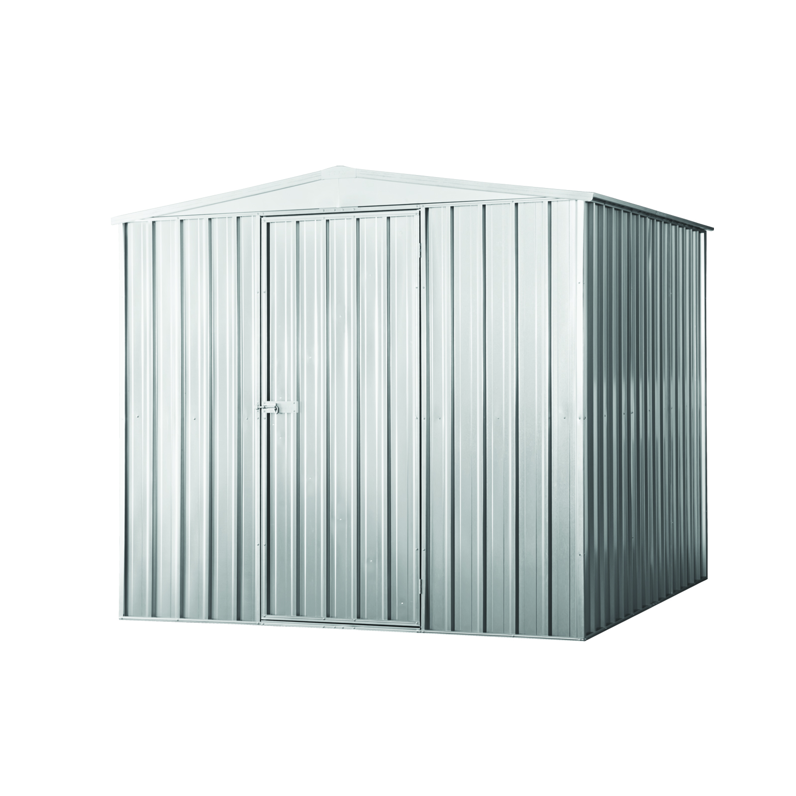 pinnacle 23 x 23 x 24m garden shed zinc