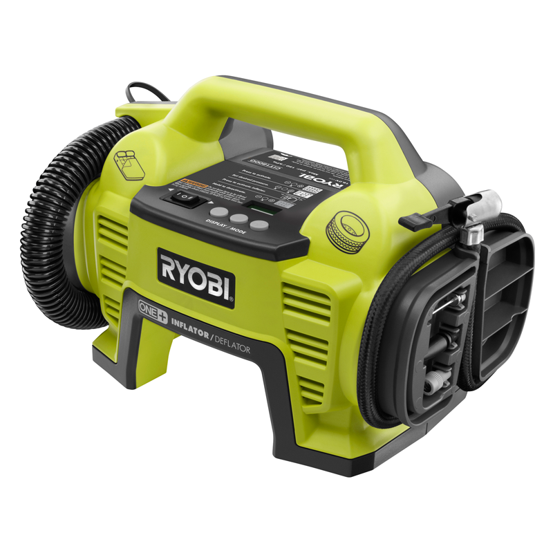 ryobi one 18v cordless air inflator and deflator skin only. Black Bedroom Furniture Sets. Home Design Ideas