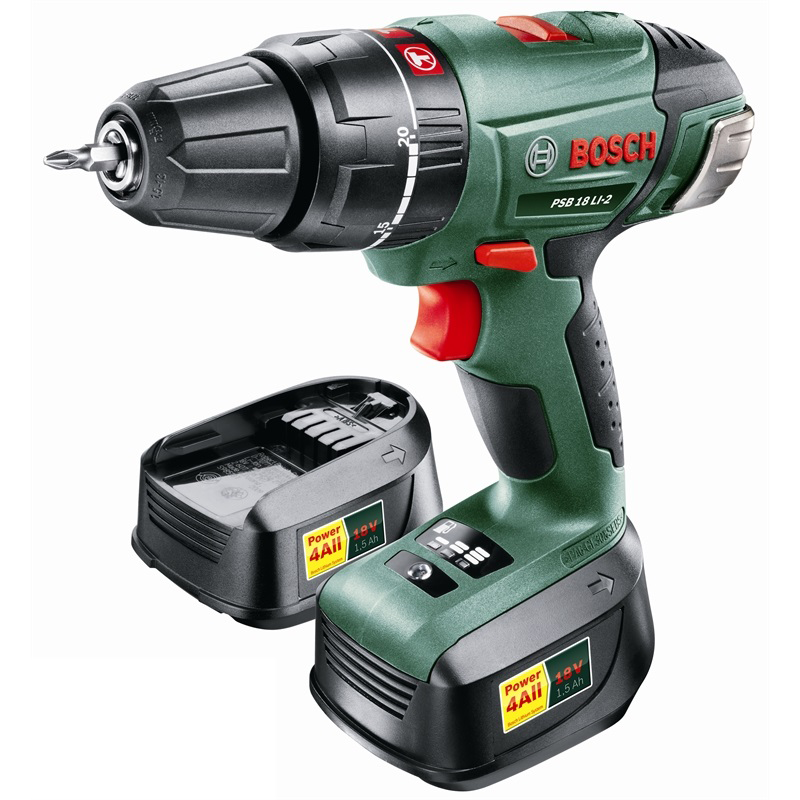 bosch 18v 2 x li ion cordless impact drill bunnings. Black Bedroom Furniture Sets. Home Design Ideas