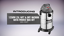 About Ozito 25L Stainless Wet and Dry Vacuums