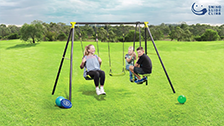 About Swing Slide Climb 3 Function Swing Set